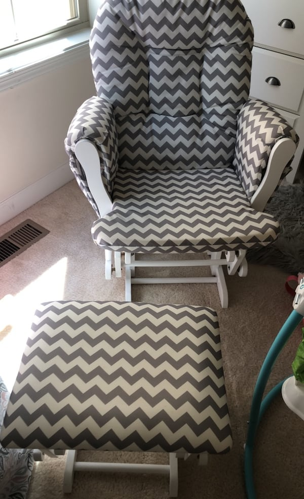 Glider chair and ottoman 1