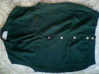 camicia senza maniche button-up verde