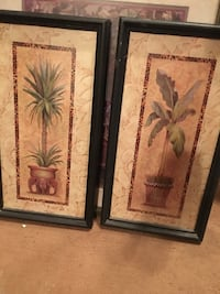 two brown wooden framed painting of flowers Mission, 78572