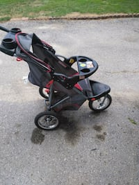 baby's black and red stroller Newmarket, L3Y 4R3