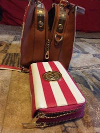 Pink and white Micheal kors Bag and wallet North Charleston, 29406