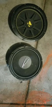 2 12 inche speakers  2056 mi