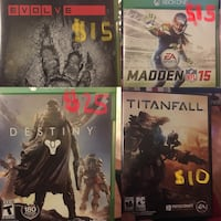 Assorted Xbox One & PC games