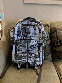 white and black camouflage backpack Livonia, 48154