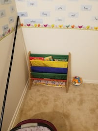 white and red wooden bunk bed 45 mi
