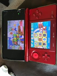 Red and black Super Mario Bros. Nintendo DS pouch, 3DS 3 Games, charger, light use St Catharines, L2P 3L5