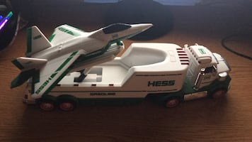 hess truck with plane