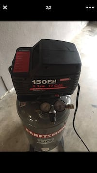 black and red Craftsman air compressor March Air Reserve Base, 92518