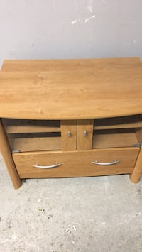 brown wooden 2-drawer side table Toronto, M6J 1G4