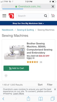 Brother embroidery and sewing machine