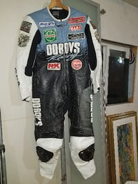 Leather Sportbike Racing Suit, Boots & Gloves (Jap