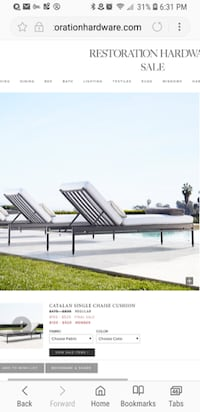 Deal!!! Restoration Hardware Patio Chaise  Lounge