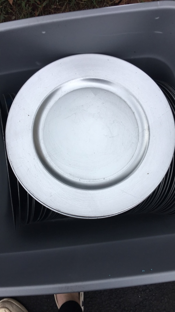 Silver Chargers $0.25 each