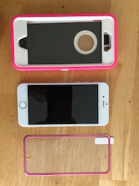 silver iPhone 6 with red case Cutler Bay, 33189