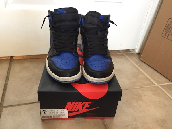 924b9386b223fd Used Sz 9 Custom royal 1 air Jordan Nike boost yeezy for sale in ...