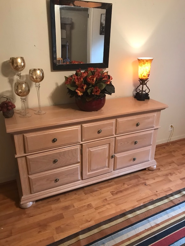 3871036eab7839 Used Farmhouse style distressed dresser entry table for sale in Dallas -  letgo