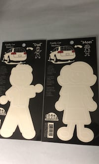 Car stickers: mom, dad, girl and boy Toronto, M9A 3T5