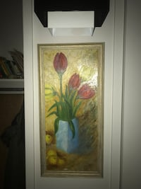 brown wooden framed painting of flowers Montréal, H3L 2P5