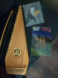 harp instrument psaltery wooden stringed bow