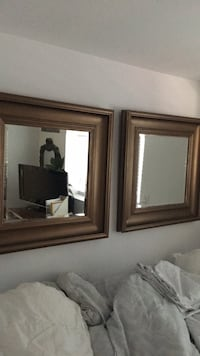 two brown wooden framed mirrors Vancouver, V5V 2G1