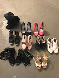 assorted pairs of shoes lot Somerset, 02726