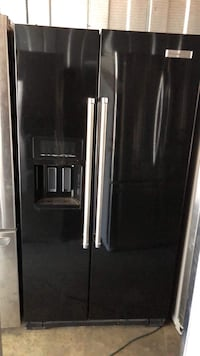 black side-by-side refrigerator with dispenser Westminster