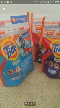 Tide laundry bundle - 100 pods  - 5 packs of 20 each - $25 price firm  Rockville