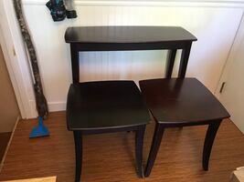 Set of Two Side Tables and Accent Table