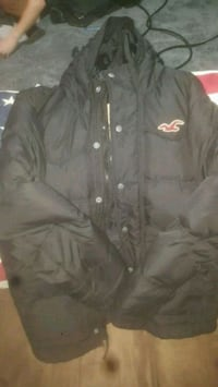 Hollister 'Redondo' mens hooded puffer coat size Large