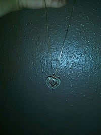 Rose gold chain necklace with heart pendant Stockton