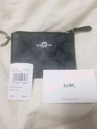 Coach card holder with coin zippered pouch and key holder
