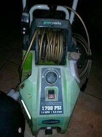 1700 psi  Green works power washer 1.4 GPM[5.31MIN Albuquerque, 87114