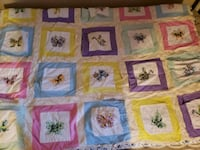 Quilt Twin size with bed skirt. Handmade.