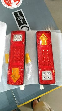 two LED trailer tail lights