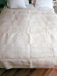French Chanvre Handspun Linen Bedspread Surrey