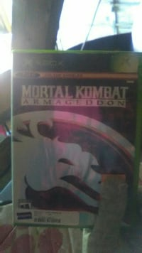 Xbox Mortal Kombat Armagedon game case