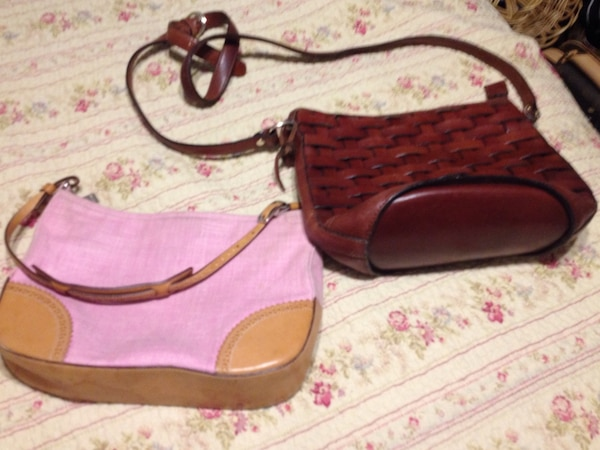 97259fa9999a0 Used Pink Coach purse and brown leather purse for sale in Broken ...
