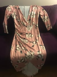 Large light pink flowered dress  Bridgeport, 06604