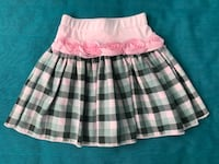 Girl's pink and white plaid skirt Милтон, L9E