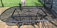 Black outdoor patio table. Westtown, 10933