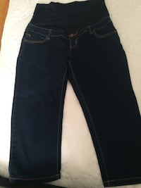 black denim straight-cut jeans Montréal, H1S 2A9