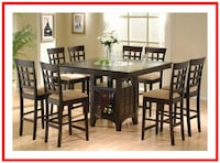 9 Piece Counter Height Dining Set Irving