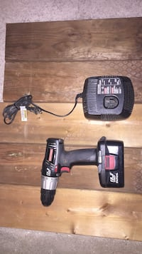 black cordless power tool