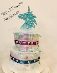 Unicorn Diaper Cake @JensSoirees on Etsy.com El Paso, 79911