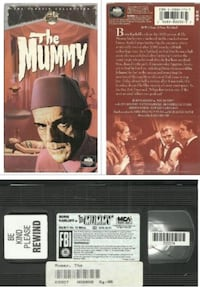 vhs The Mummy The Classic Collection Universal B&W 1 hour 12 mins  (re