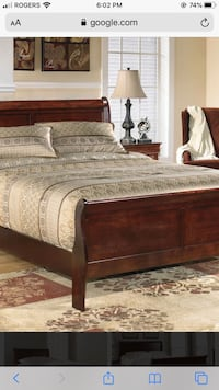 Wood Sleigh Bed Vaughan, L6A 2V6