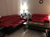 Red leather couches / sofa Saint Petersburg, 33703
