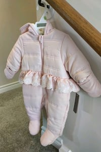 NEW with tags! Calvin Klein Pram 3-6 Mo pink with Lace peplum Oakville, L6H 5Y8