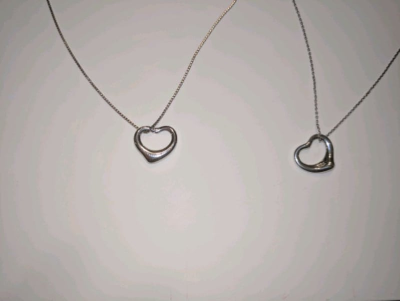 2 Tiffany small open heart pendant for $150 total 594eabc8-0584-41db-b754-86786ff9c014