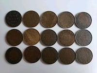15pcs 1909 to 1920 Antique Large Canadian Pennies Calgary, T2R 0S8